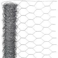 Nature Malla de alambre hexagonal acero galvanizado 1x5 m 13 mm