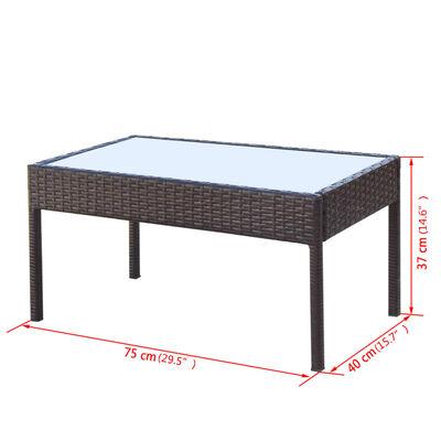 vidaXL Muebles de jardín 4 piezas con cojines ratán sintético marrón