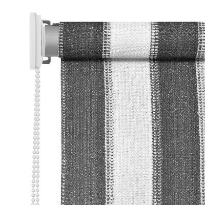 vidaXL Persiana enrollable 350x140 cm a rayas gris antracita y blanca