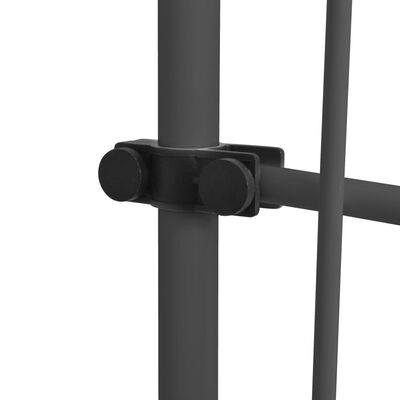 vidaXL Toldo manual retráctil con LED gris antracita 200 cm