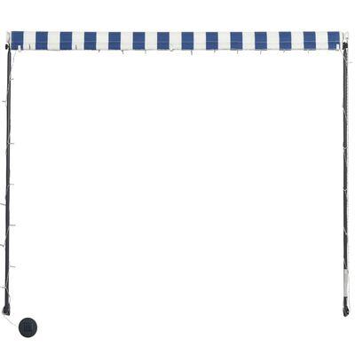 vidaXL Toldo retráctil con LED azul y blanco 100x150 cm