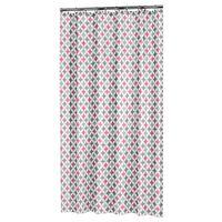 Sealskin Cortina de ducha Diamonds poliéster rosa 180x200 cm