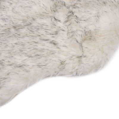 vidaXL Alfombra de piel de oveja sintética mezcla de gris 60x90 cm