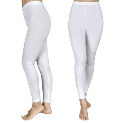 2 leggings blancos, tallas 122/128