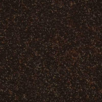 vidaXL Alfombrilla autoadhesiva de escalera 10 uds 56x17x3 cm marrón