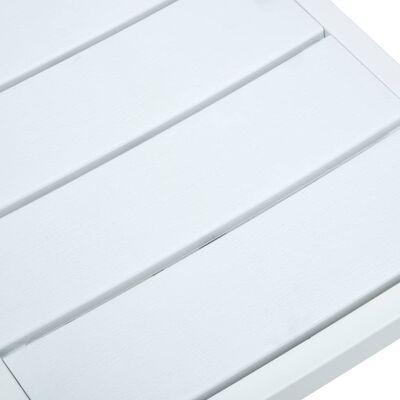 vidaXL Sillas de jardín 4 unidades HDPE aspecto de madera blanco