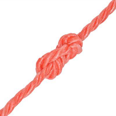 vidaXL Cuerda torcida de polipropileno 10 mm 250 m naranja