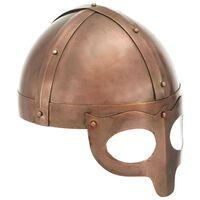 vidaXL Réplica de casco vikingo antiguo LARP acero cobre