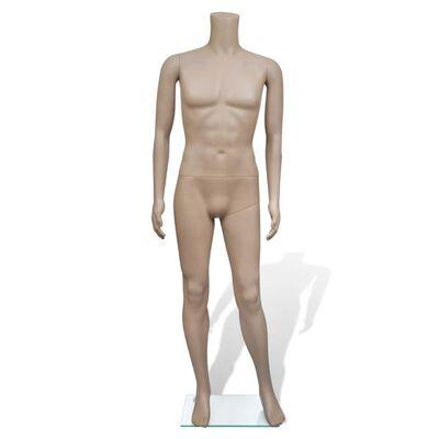 vidaXL Maniquí de hombre sin cabeza
