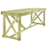 vidaXL Mesa de jardín de madera 160x79x75 cm