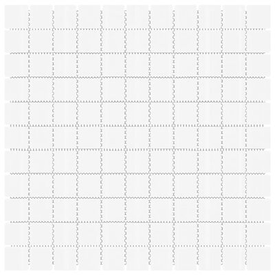 vidaXL Azulejos mosaico autoadhesivo 11 uds vidrio blanco 30x30 cm