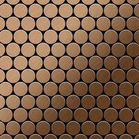 ALLOY Dollar-Ti-AB Mosaico de metal sólido Titanio cobre