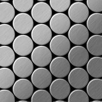 ALLOY Dome-S-S-B Mosaico de metal sólido Acero inoxidable gris