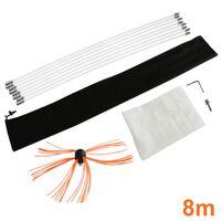 Deshollinador Cepillo Nylon Cepillo 8m Kit Flexibles 7 Varillas