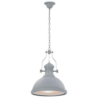 vidaXL Lámpara de techo redonda gris E27