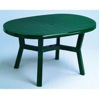 Mesa Jardin Rect.Oval Verde - Plasmir - 4060 V - 140X90 Cm