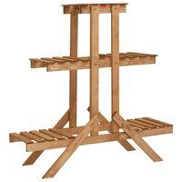 vidaXL Soporte para plantas de madera de abeto 83x25x83 cm