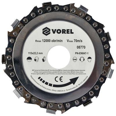 VOREL Disco de cadena 115x22,2 mm