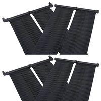 vidaXL Panel calentador solar para piscinas 4 unidades 80x310 cm