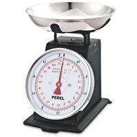 Perel Báscula de cocina analógica negro 5 kg