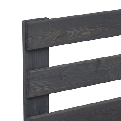 vidaXL Estructura de cama de palés madera maciza pino gris 160x200 cm