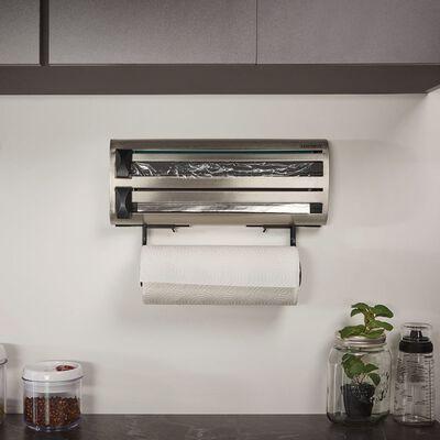 Leifheit Portarrollos de cocina de pared Parat Royal gris 25660