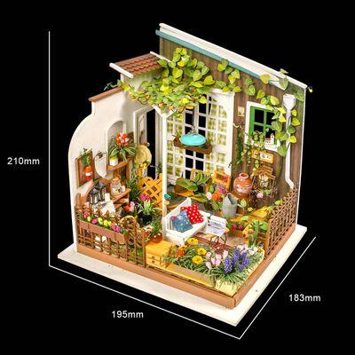 Robotime Kit de miniatura DIY Miller's Garden con luz LED