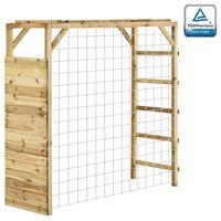 vidaXL Estructura escalar portería de fútbol madera pino 170x60x170 cm