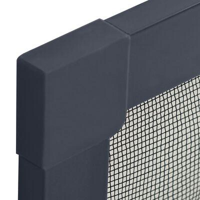 vidaXL Mosquitera para ventanas gris antracita 90x120 cm