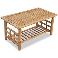 vidaXL Mesa de centro 90x50x45 cm bambú