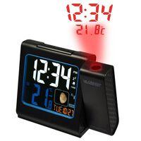 LA CROSSE Reloj despertador negro 13,3 x 11 cm