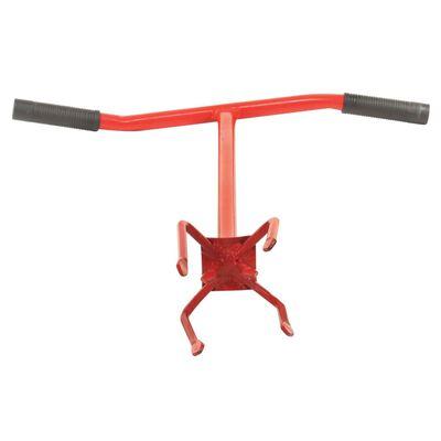vidaXL Garra de jardín de acero rojo