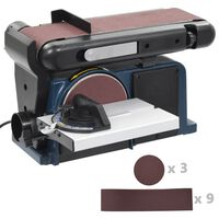 vidaXL Lijadora de disco y banda 370 W 150 mm
