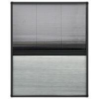 vidaXL Mosquitera plisada para ventanas contra el sol aluminio 60x80cm