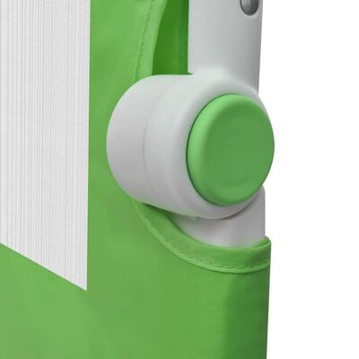 vidaXL Barra de seguridad para cama de niño 2 unidades verde 150x42 cm