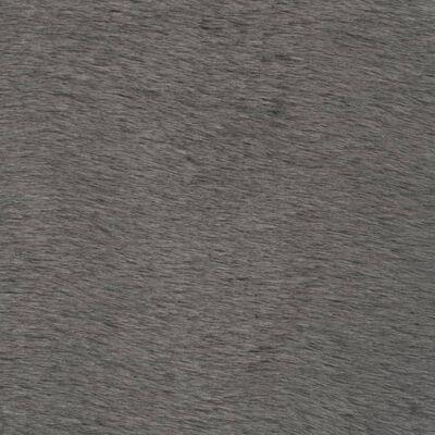 vidaXL Alfombra de pelo sintético de conejo gris oscuro 160x230 cm