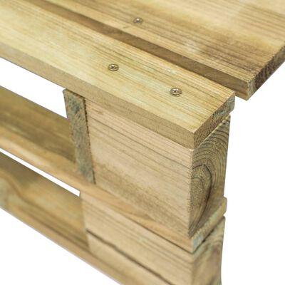 vidaXL Otomana de palets de jardín verde madera de pino impregnada
