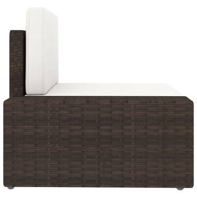 vidaXL Set muebles de jardín 14 pzas y cojines ratán sintético marrón
