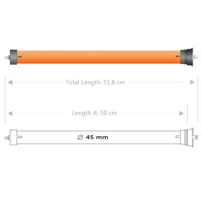 vidaXL Motores tubulares 8 unidades 40 Nm