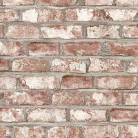 DUTCH WALLCOVERINGS Papel de pared diseño de ladrillos rojo EW3102