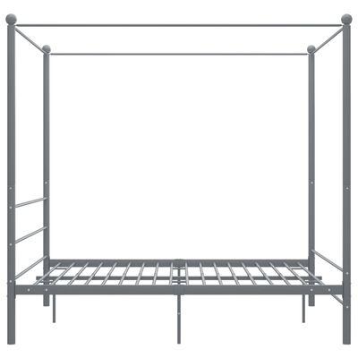 vidaXL Estructura de cama con dosel metal gris 160x200 cm