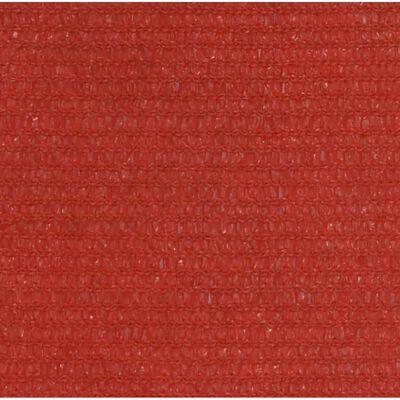 vidaXL Toldo de vela rojo HDPE 160 g/m² 3,5x4,5 m