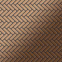 ALLOY Herringbone-Ti-AB Mosaico de metal sólido Titanio cobre