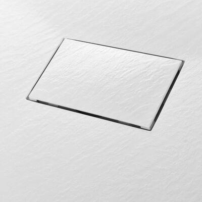 vidaXL Plato de ducha SMC blanco 100x70 cm