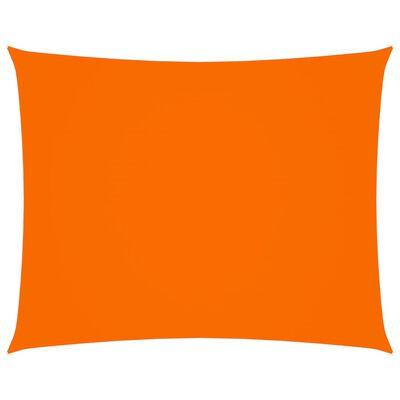 vidaXL Toldo de vela rectangular de tela oxford naranja 2,5x3 m