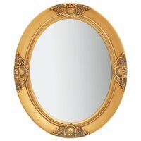 vidaXL Espejo de pared estilo barroco dorado 50x60 cm