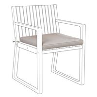 Cojin para silla SASSARI gris pardo