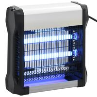 vidaXL Lámpara antimosquitos de aluminio y ABS negro 12 W