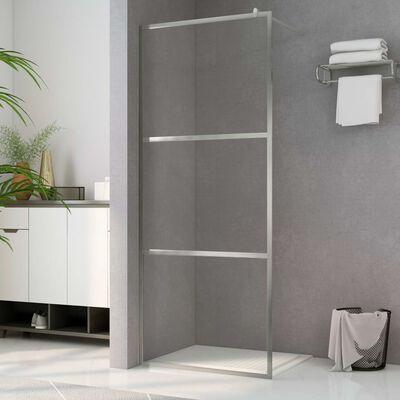 vidaXL Mampara de ducha accesible vidrio ESG claro 80x195 cm