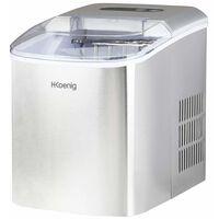 H.KOENIG - Máquina para hacer hielo, 120W, Capacidad 12 kg. - Ref.KB14